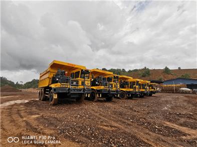 TL855B Working on open iron ore of Malaysia