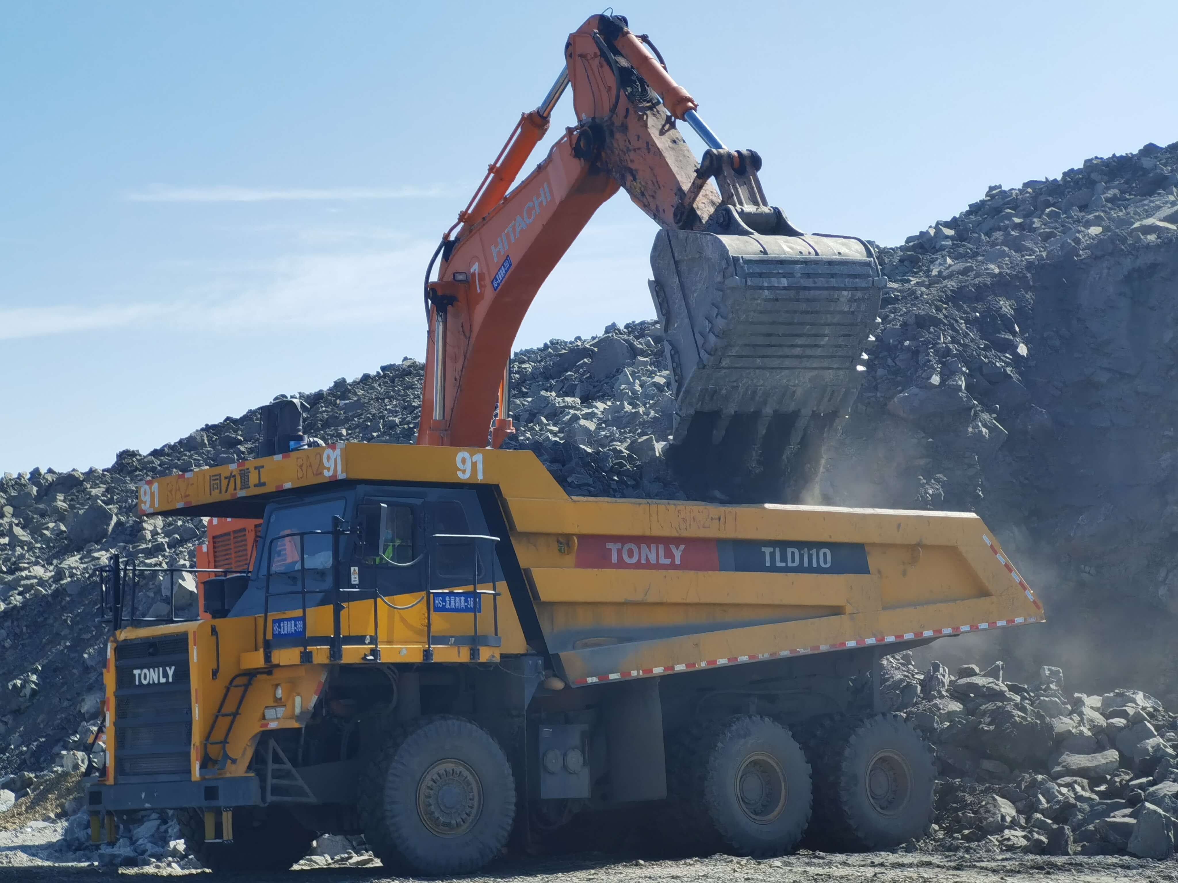 TLD110 Rigid Dump Truck Working in Open-Pit Mine of Xinjiang Province